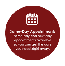 same day appointments Salem Virginia